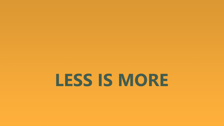 less is more お洒落な英語の言葉 名言が入ったデスクトップ壁紙