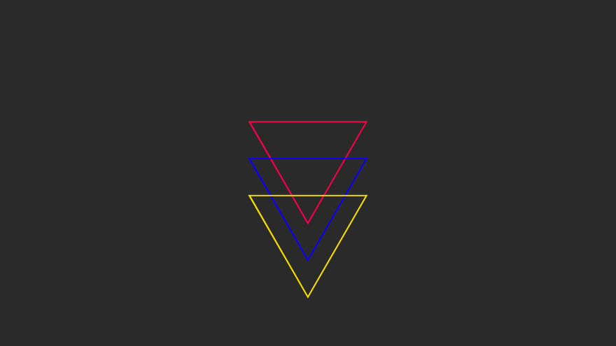 red blue yellow primary triangles minimal simple minimalist desktop wallpaper