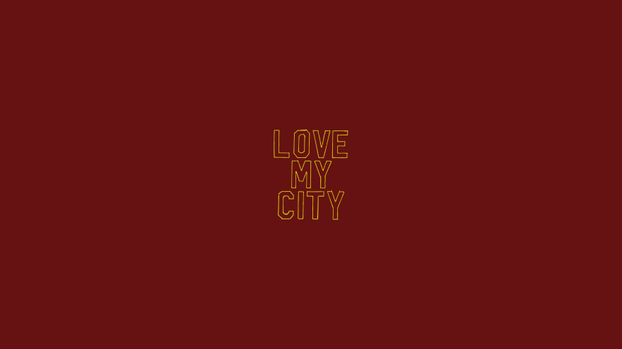 love my city minimal simple minimalist desktop wallpaper