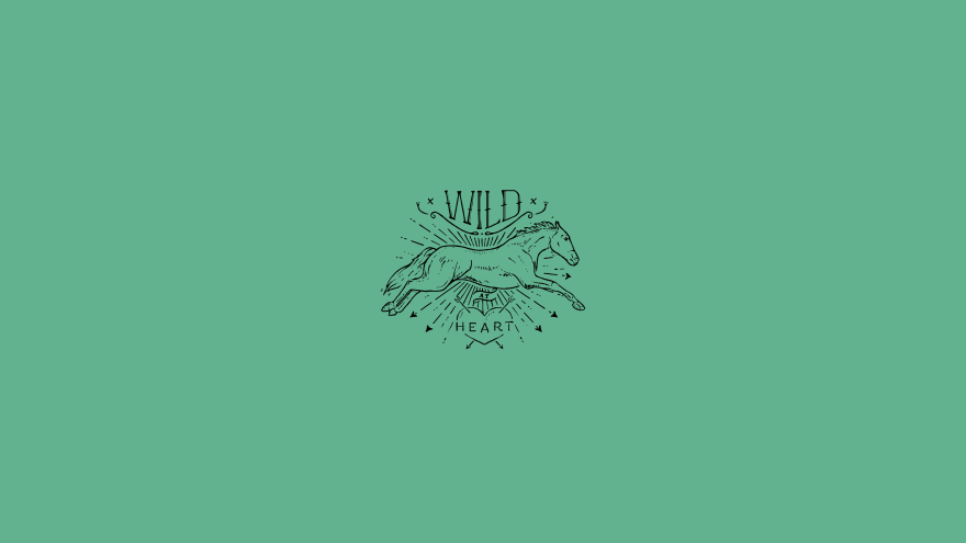 Wild hearts horse minimal simple minimalist desktop wallpaper