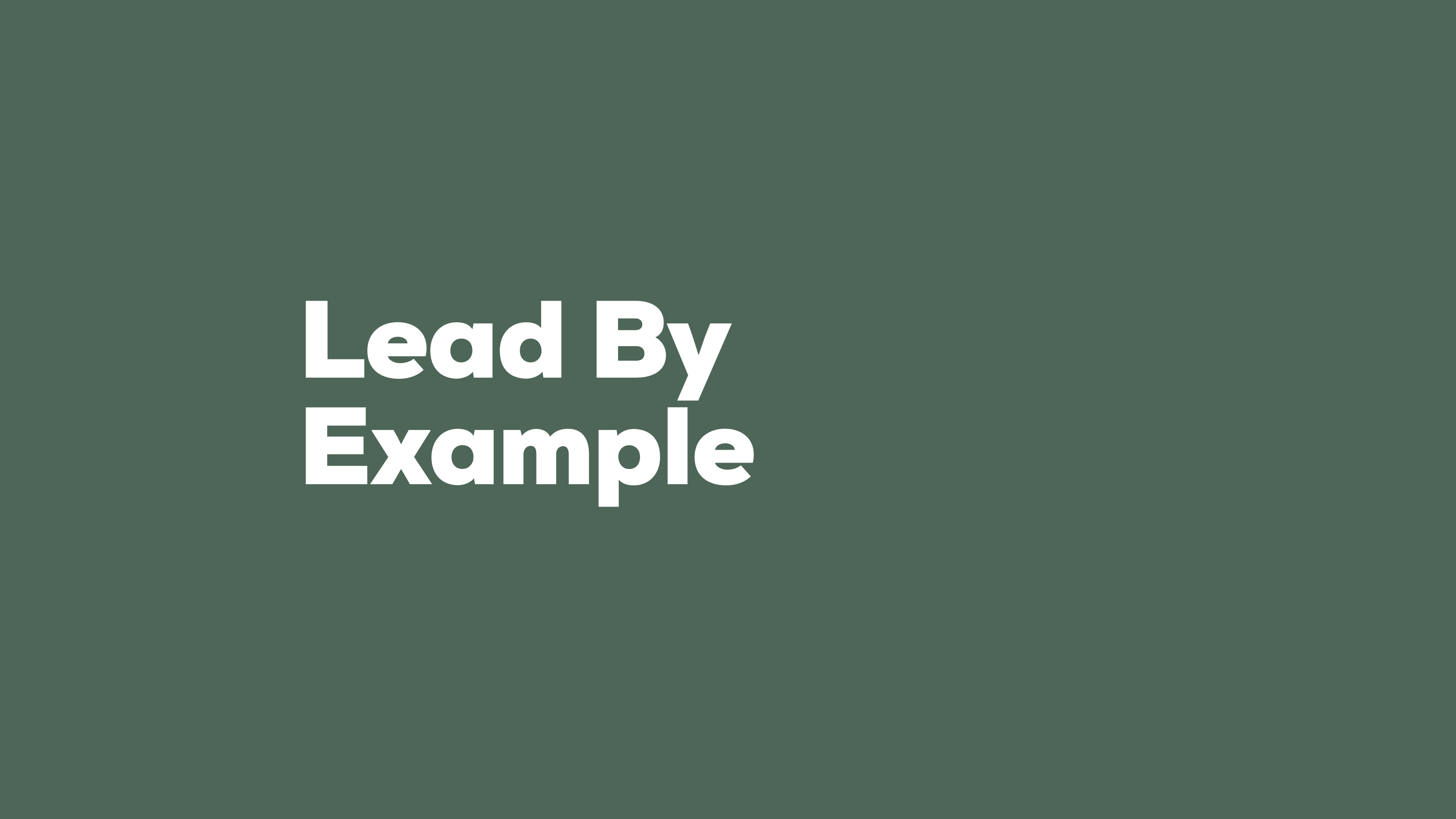 lead by example – mnml wallpapers