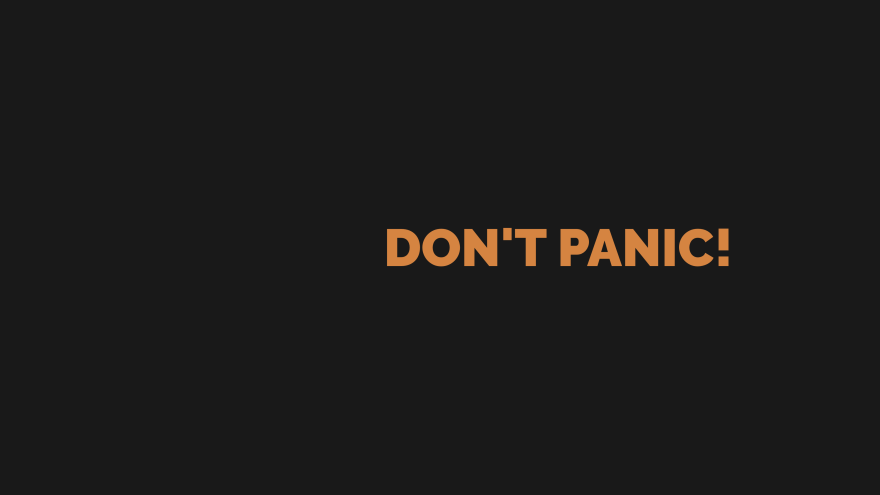 don't panic minimal simple minimalist desktop wallpaper