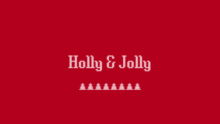 holly and jolly christmas minimal simple minimalist desktop wallpaper