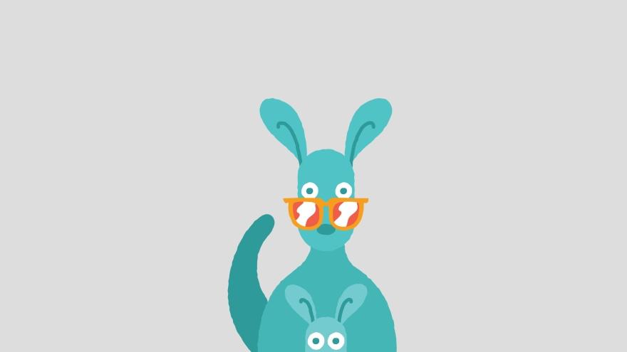 kangaroo minimal simple minimalist desktop wallpaper