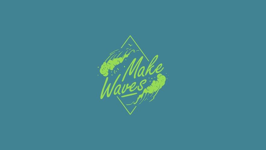 make waves minimal simple minimalist desktop wallpaper