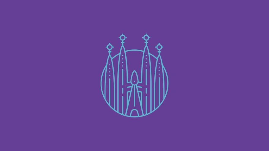 castle church minimal simple minimalist desktop wallpaper
