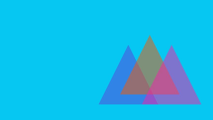 three triangles mountains simple free minimal desktop wallpaper