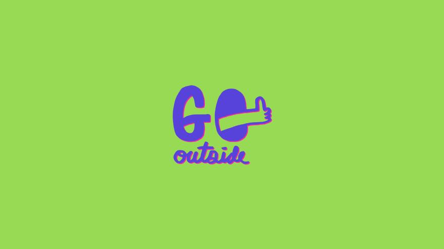 Go Outside Desktop Wallpaper Free Download Minimal Minimalistic Minimalist