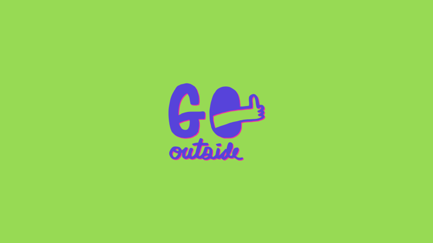 Go Outside Desktop Wallpaper Free Download Minimal Minimalistic Minimalist